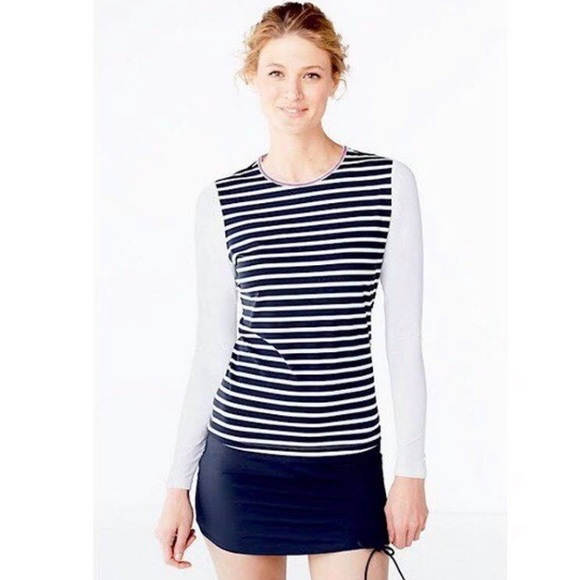 1d4589319 Lands' End Swim | Lands End Upf 50 Sun Rash Guard Striped Tee S ...